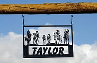 Taylor Ranch, sign, Boulder, Utah, USA