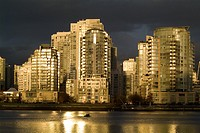 buildings on False Creek, Vancouver, BC, Canada