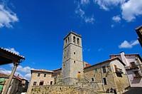 Miranda del Castañar church, Las Batuecas-Sierra de Francia Natural Park, Salamanca, Castilla-leon, Spain, Europe