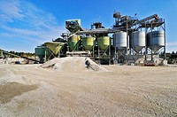 Gravel plant at Geretsried, Bavaria, Germany, Europe