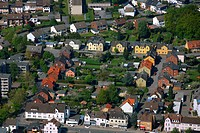 Aerial photo, Boenen, colliery village, Ruhr area, North Rhine-Westphalia, Germany, Europe