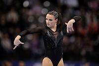 Marta Pihan-Kuleza, Poland, floor exercises, EnBW Gymnastics World Cup 2009, Porsche-Arena, Stuttgart, Baden-Wuerttemberg, Germany, Europe