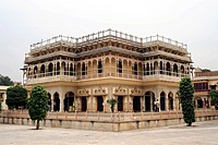 Mubarak Mahal, City Palace, now used as a Textile Museum, Jaipur, Rajasthan, North India, India, South Asia, Asia