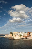 16th century Venetian harbor, Hania, Crete, Greece