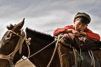 Boy on his horse, Kyrgyzstan