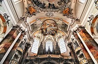 Organ, Basilica of the Benedictine Abbey in Ottobeuren, Bavaria, Germany, Europe