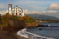 Church and Beach / Sao Roque / Sao Miguel Island / Azores / Portugal