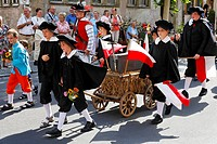 Festival Die Schutzfrau von Muennerstadt, Muennerstadt, Rhoen, Franconia, Bavaria, Germany