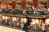 Restaurant Alte Mainmuehle, Wuerzburg, Franconia, Bavaria, Germany