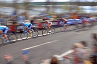 Bike race around Cologne, North Rhine_Westphalia, Germany