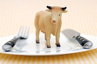 Cow Figure on Dish