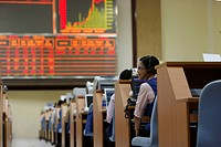 Trading floor of the Vietnamese stock market, Ho Chi Minh City Stock Exchange, Vietnam, Southeast Asia