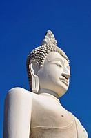 Buddha statue, Great Chedi Chaya Mongkol, Wat Yai Chai Mongkon, Ayutthaya, Thailand, Asia