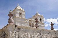 Saint Santa Ana Maca Church, Maca, Inca settlement, Quechua settlement, Peru, South America, Latin America