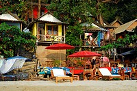 Star Beach bungalows on White Sand Beach, Hat Had Sai Khao, Koh Chang Island, National Park Mu Ko Chang, Trat, Gulf of Thailand, Thailand, Asia