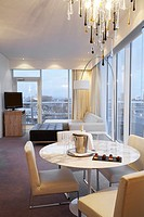Luxury Hotel suite at St Davids Hotel, at Cardiff bay, south Wales