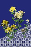 CG of Japanese Painting, Chrysanthemum