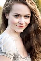 A portrait of a beautiful caucasian girl outdoor