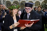 21.02.2011, Milan, Graduation parties of the first academic session of engineering at the Politecnico of Milan