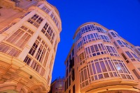 Modernist buildings in the street Peraires, Palma Mallorca Balearic Islands Spain