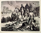France. History.  ´Etienne Marcel faisant fortifier Paris´: Étienne Marcel died 31 July 1358 was provost of the merchants of Paris under King John II,...