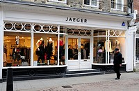 Jaeger Clothes Shop, Trinity Street, Cambridge, England, UK