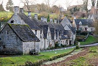 Arlington row and some of the surrounding houses in Bibury, Oxfordshire