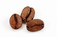 clip image - three roasted coffee beans