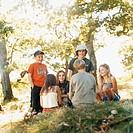 Family picnic scene