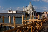 At the Dorsoduro point, the Santa Maria della Salute basilica and the Dogana da Mar