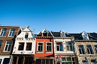 Monumental Houses, 'Rechtstraat' street, Maastricht, Limburg, The Netherlands, Europe