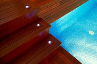 Stairs on an interior pool  LLeida  Spain