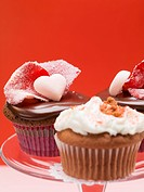 Assorted cupcakes for Valentine´s Day
