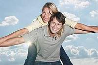 Germany, Cologne, Couple smiling, portrait