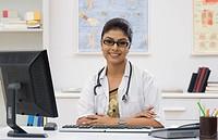 Female doctor in an office