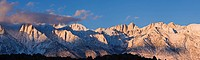 Sunrise over Mt  Whitney, Sierra Nevada mountains, California