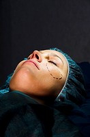 Woman receiving Plastic Operation