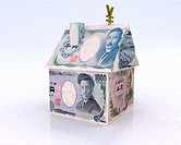 home made of japan yen 3d illustration