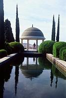 Pavilion and viewpoint, La Concepción Historical Garden. Málaga, Andalucía, Spain.