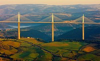 Millau Viaduct, Aveyron D&#233;partement, France
