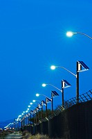 Solar powered street lights.