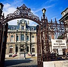 Wrought-iron railings and gate of Champagne wines and local prehistory museums, Epernay, Champagne, France