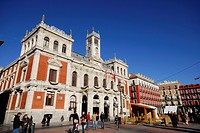 Main square and city hall of Valladolid, Spain