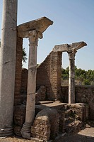 Italy, Ostia Antica _ Ancient Synagogue. The synagogue at Ostia was founded during the reign of Emperor Claudius 41_54 AD, as its earliest phase was b...