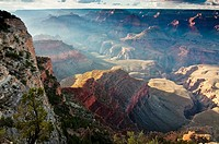 Sunset near Yavapai Point, Grand Canyon National Park, South Rim, Arizona, USA