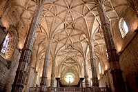 Interior of the Monastery of Jeronimos, the sixteenth century, Renaissance art