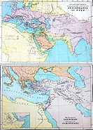 Map Of The Ancient World Showing The Probable Settlements Of The Descendants Of Noah In A Bible