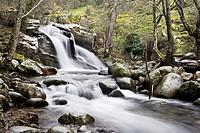 Waterfull in Iruelas river  the Sierra de Gredos  Ávila  Castilla León  Spain