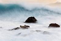 Spain, Canary Islands, La Gomera, La Playa, View of sea waves