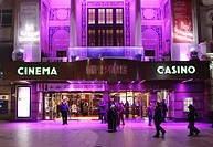Empire Leicester Square London at night